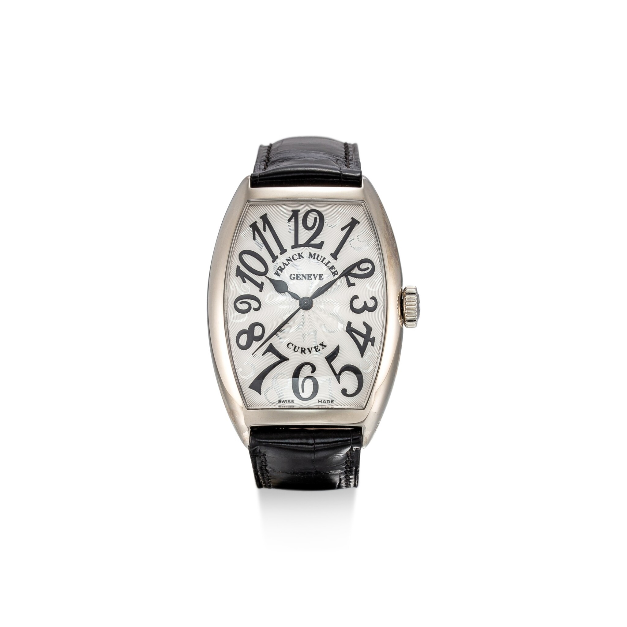 View full screen - View 1 of Lot 104. FRANCK MULLER   CURVEX, REFERENCE 5850 SC HO A STAINLESS STEEL WRISTWATCH, CIRCA 2018.