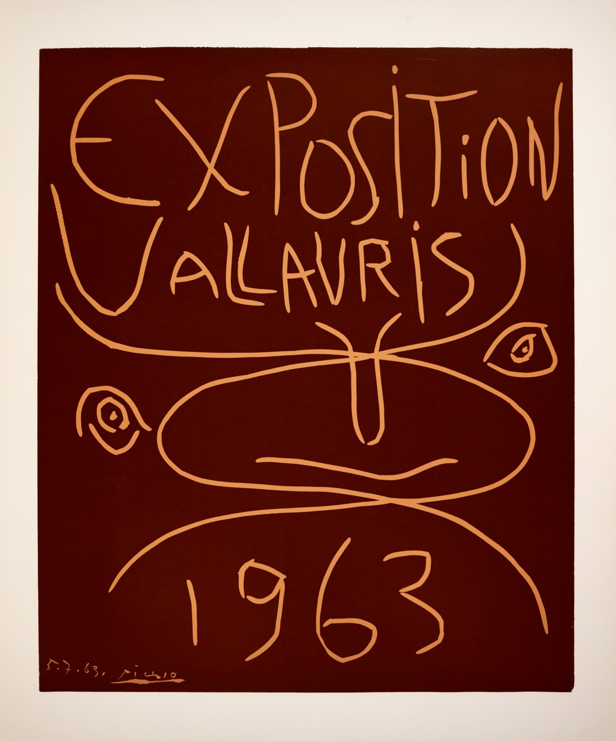 View full screen - View 1 of Lot 114. PABLO PICASSO | EXPOSITION VALLAURIS 1963 (B. 1300; BA. 1341; CZW. 50; PP. L-165).