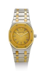 AUDEMARS PIGUET | ROYAL OAK, A YELLOW GOLD AND STAINLESS STEEL WRISTWATCH WITH DATE AND BRACELET, CIRCA 1980
