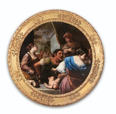 View 6. Thumbnail of Lot 34. The Judgement of Solomon; Daniel defending Susanna.