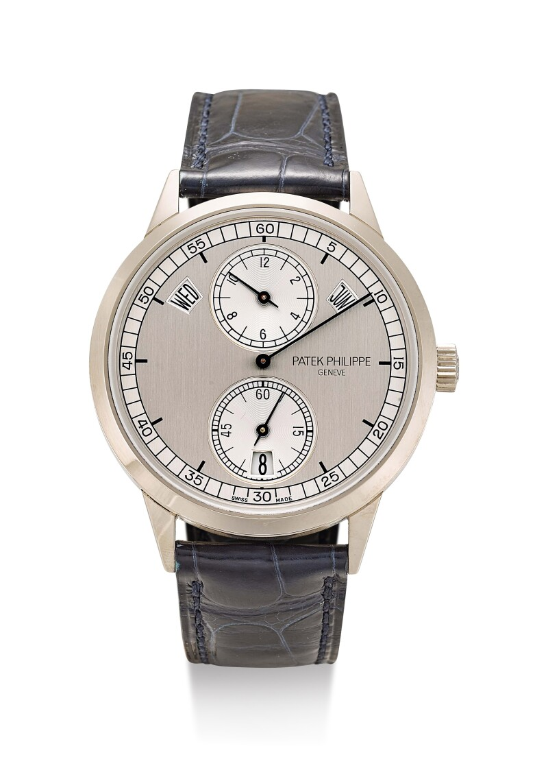 Reference 5235  A White Gold Annual Calendar Wristwatch With Regulator Dial, Circa 2017