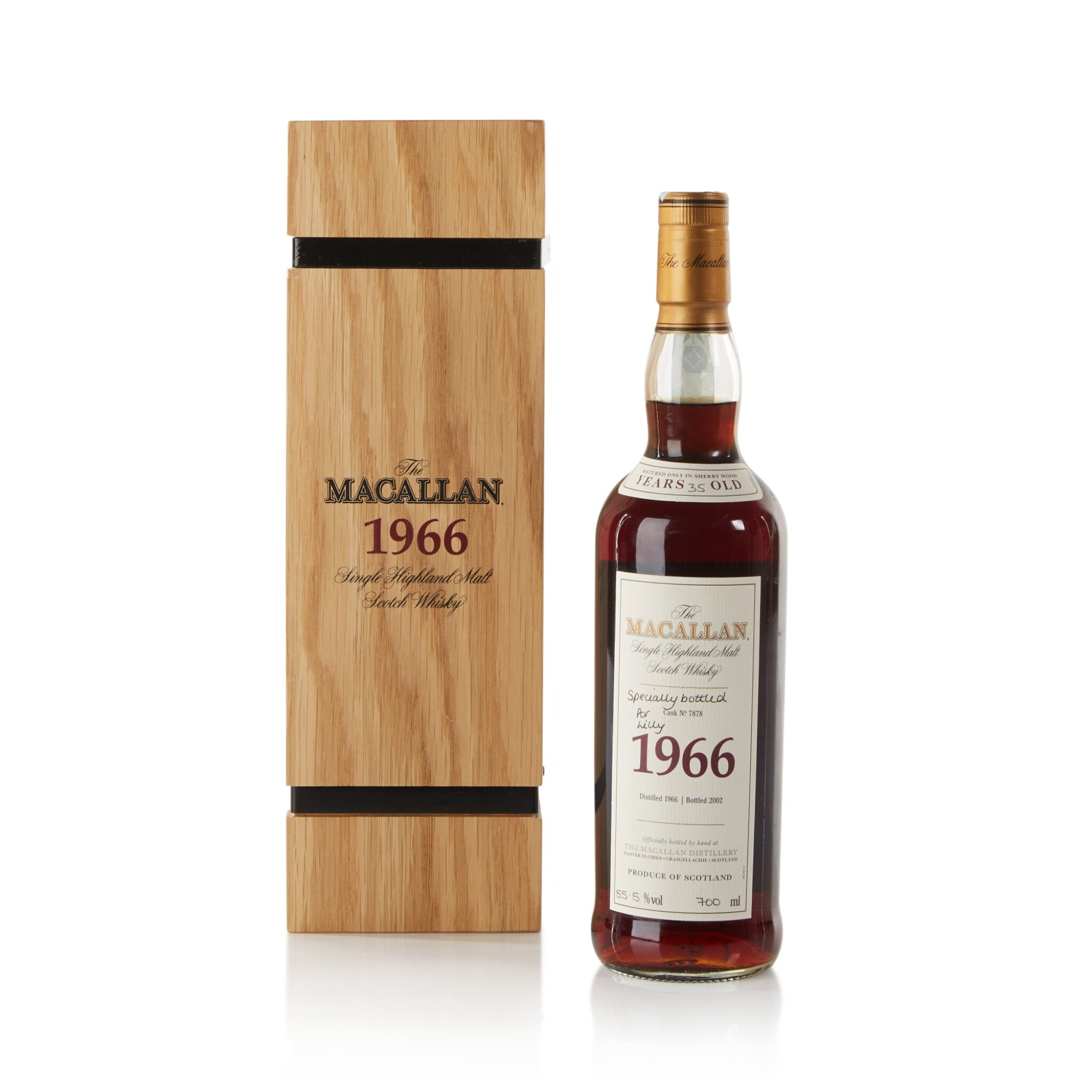 View full screen - View 1 of Lot 26. The Macallan Fine & Rare 35 Year Old 55.5 abv 1966 .
