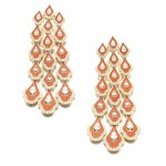 Pair of enamel and diamond earrings