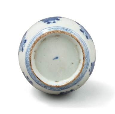 View 6. Thumbnail of Lot 279. A blue and white 'flower' bowl, China, Qing Dynasty, Kangxi period.
