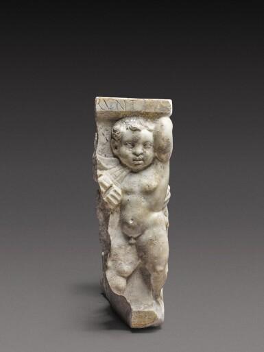 View 2. Thumbnail of Lot 80. A Roman Marble Garland Sarcophagus Fragment, circa A.D. 135.