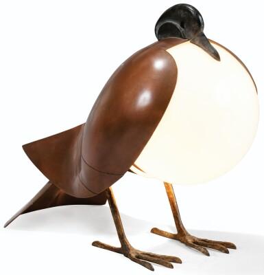 FRANÇOIS-XAVIER LALANNE | PIGEON TABLE LAMP, 1992