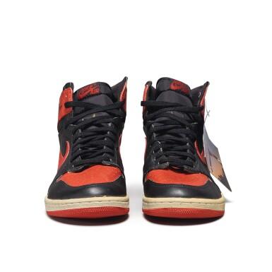 View 8. Thumbnail of Lot 7.  Peter Moore | 'Bred' Nike Air Jordan 1 High OG (1985) | Size 11.5.