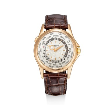 PATEK PHILIPPE | REFERENCE 5130, A PINK GOLD WORLD TIME WRISTWATCH, CIRCA 2006