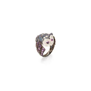 SAPPHIRE, AMETHYST AND DIAMOND RING, BOUCHERON, FRANCE