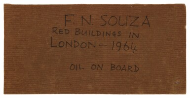 View 4. Thumbnail of Lot 1826. FRANCIS NEWTON SOUZA | RED BUILDINGS IN LONDON.
