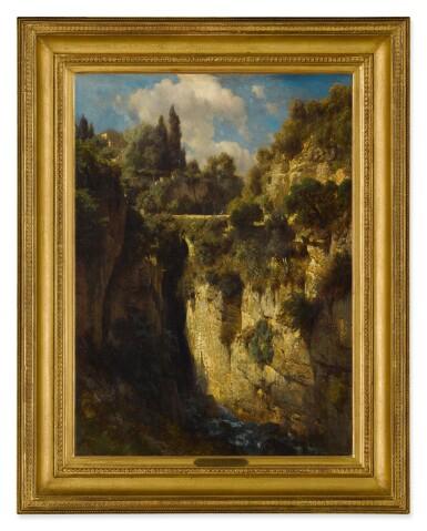 View 2. Thumbnail of Lot 621. JOHANN GOTTFRIED STEFFAN   A MOUNTAINOUS LANDSCAPE WITH A WATERFALL.