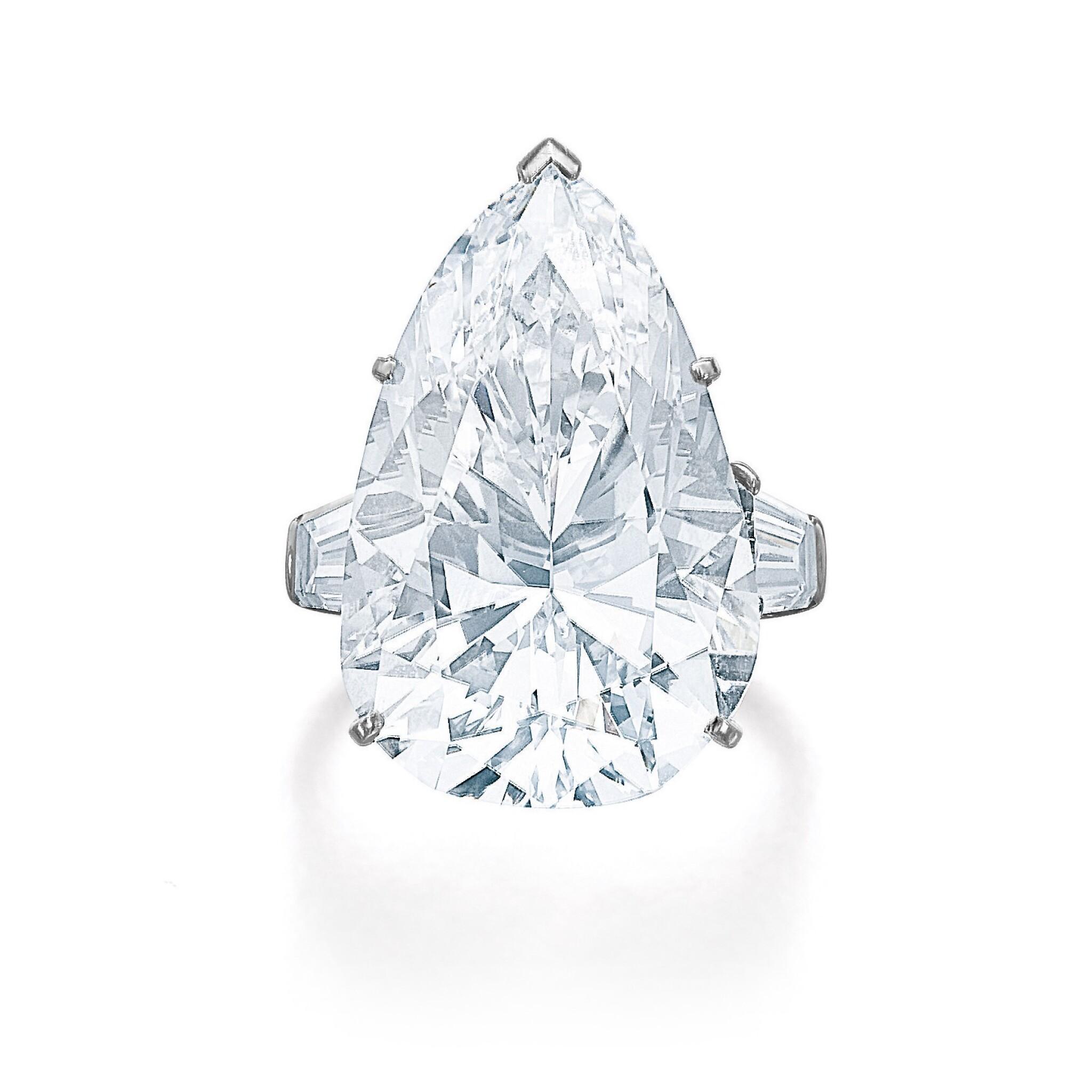 View full screen - View 1 of Lot 202. HARRY WINSTON [海瑞溫斯頓] | IMPORTANT DIAMOND RING, CIRCA 1970 [重要鑽石戒指,約1970年].