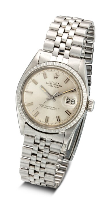 View 2. Thumbnail of Lot 608. ROLEX | DATEJUST REFERENCE 1603 A STAINLESS STEEL WRISTWATCH WITH DATE AND BRACELET, CIRCA 1969.
