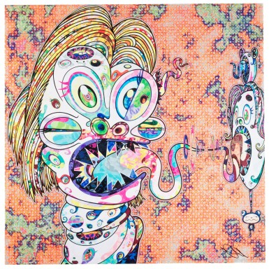 View 1. Thumbnail of Lot 14.  TAKASHI MURAKAMI | HOMAGE TO FRANCIS BACON (STUDY FOR HEAD OF ISABEL RAWSTHORNE; AND GEORGE DYER).