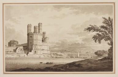 View 1. Thumbnail of Lot 590. SAMUEL HIERONYMUS GRIMM | Caernarvon Castle, North Wales.