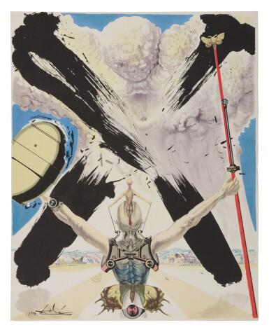 View 2. Thumbnail of Lot 79. Pages choisies de Don Quichotte de la Manche (Michler/Löpsinger 1001-1012; Field 57-1).