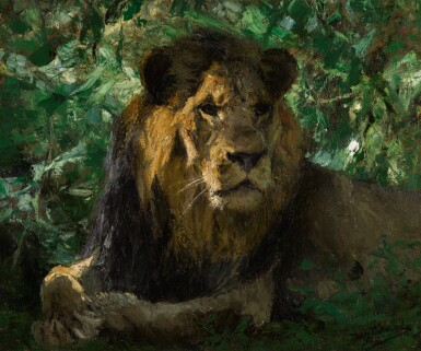 View 1. Thumbnail of Lot 148. Resting Lion.