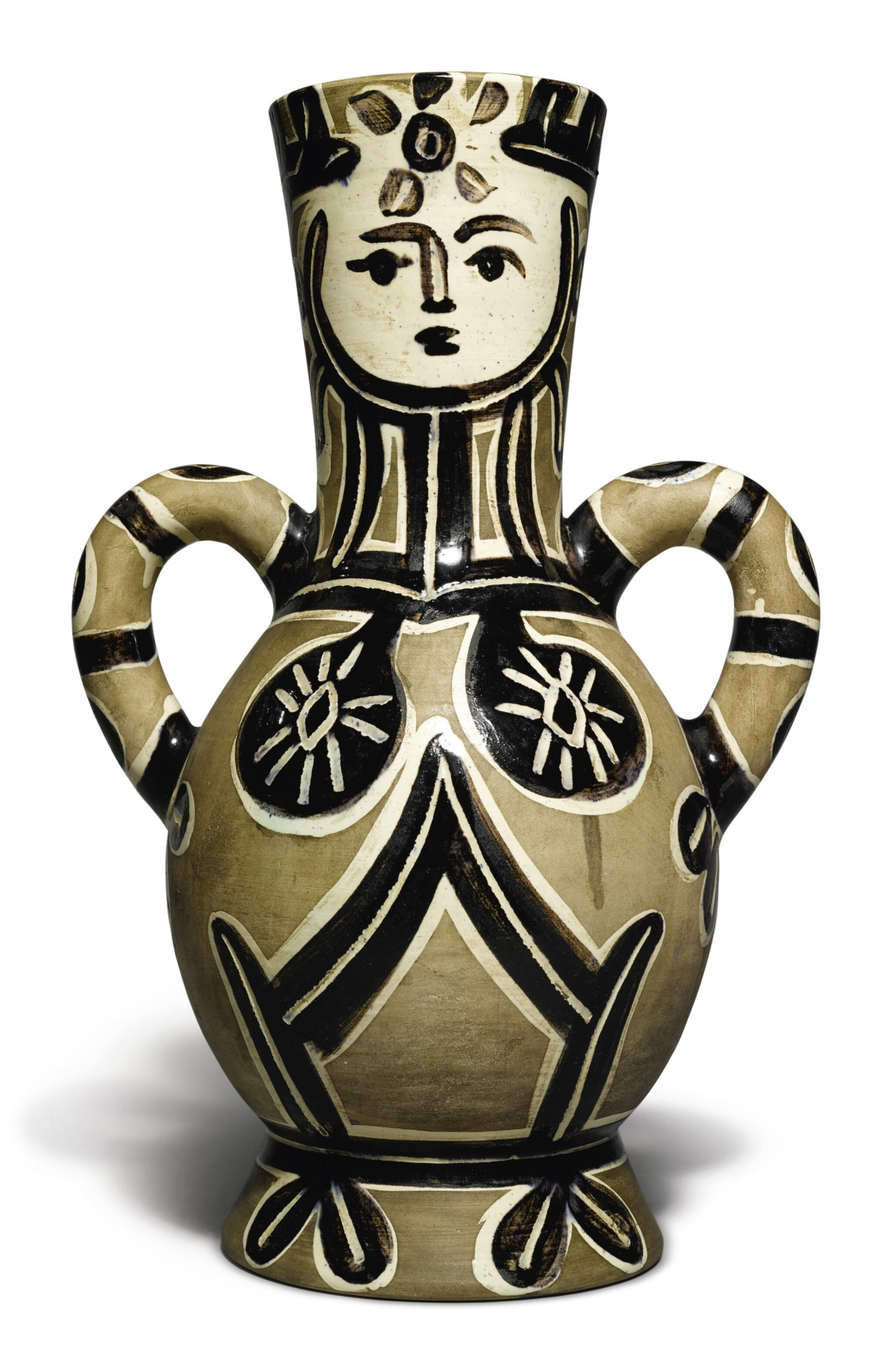View full screen - View 1 of Lot 44. PABLO PICASSO   VASE DEUX ANSES HAUTES (A. R. 213).