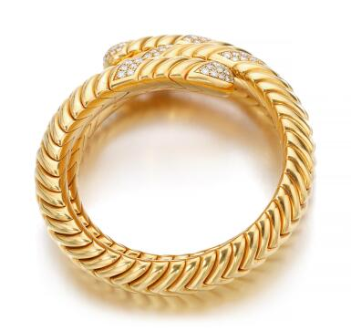 GOLD AND DIAMOND BANGLE, 'SPIGA' | BULGARI