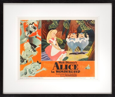 View 2. Thumbnail of Lot 25. ALICE IN WONDERLAND (1951) LOBBY CARD, US.