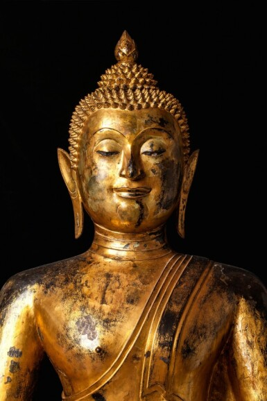 View 5. Thumbnail of Lot 63. Thailand, Ayutthaya Period, 16th/17th century   Seated Buddha.