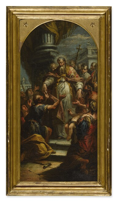 JACOPO PAOLO MARIESCHI | SAINT JOHN THE MERCIFUL DISTRIBUTING ALMS, A BOZZETTO