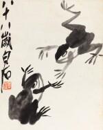 Qi Baishi (1864-1957) Grenouilles | 齊白石 雙蛙圖 | Qi Baishi (1864-1957) Frogs