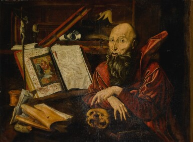 View 2. Thumbnail of Lot 4. Saint Jerome in his study.