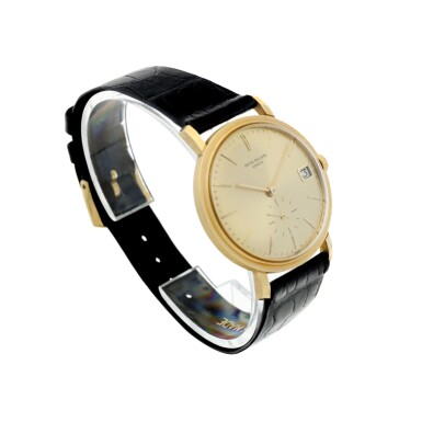 View 3. Thumbnail of Lot 25. REFERENCE 3445 A YELLOW GOLD AUTOMATIC WRISTWATCH WITH DATE, MADE IN 1972.