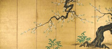 View 2. Thumbnail of Lot 47. ANONYMOUS, EDO PERIOD, 19TH CENTURY | PEACH BLOSSOM AND BAMBOO.