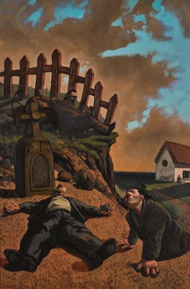 PETER HOWSON, O.B.E.   THE DRUNKEN PRIEST
