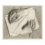 M. C. ESCHER | DRAWING HANDS (B./K./L./W. 355)