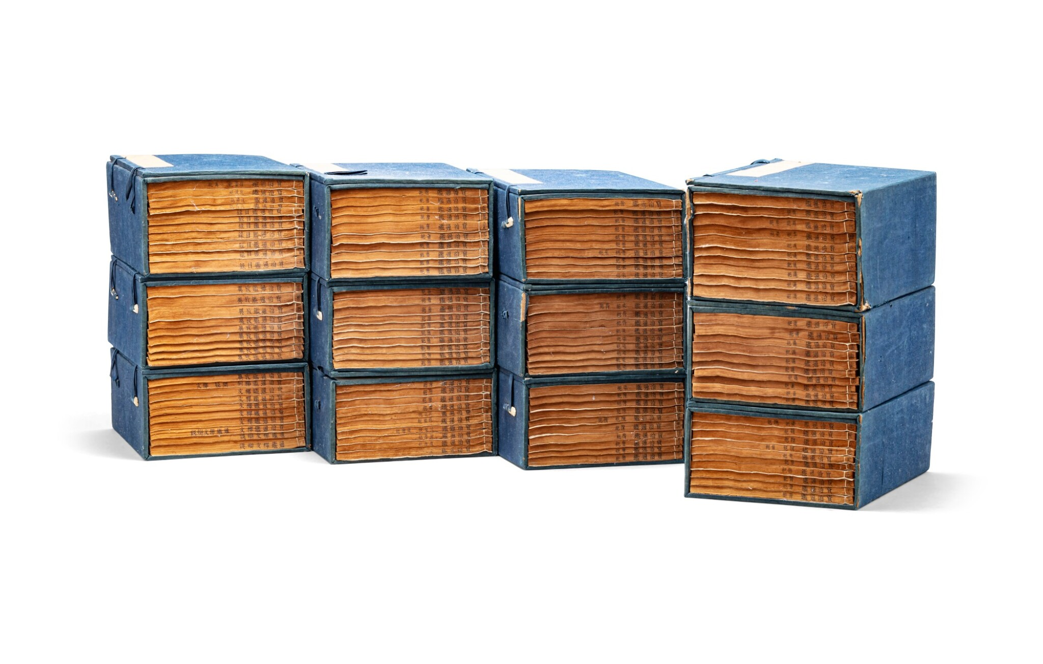 View 1 of Lot 145. Sima Guang, Zizhi Tongjian Dynastie Qing, époque Guangxu, daté 1891 | 司馬光撰 《資治通鍳》| Sima Guang, Zizhi Tongjian, 120 books in 12 tomes, Qing Dynasty, Guangxu period, dated 1891.