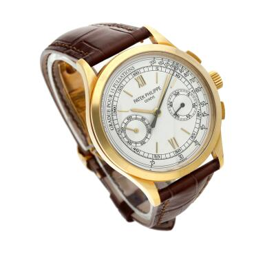 View 4. Thumbnail of Lot 355. Reference 5170  A yellow gold chronograph wristwatch with pulsation scale, Made in 2011 .