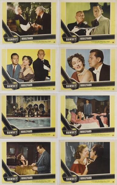 Sunset Boulevard (1950) full set of 8 lobby cards, US