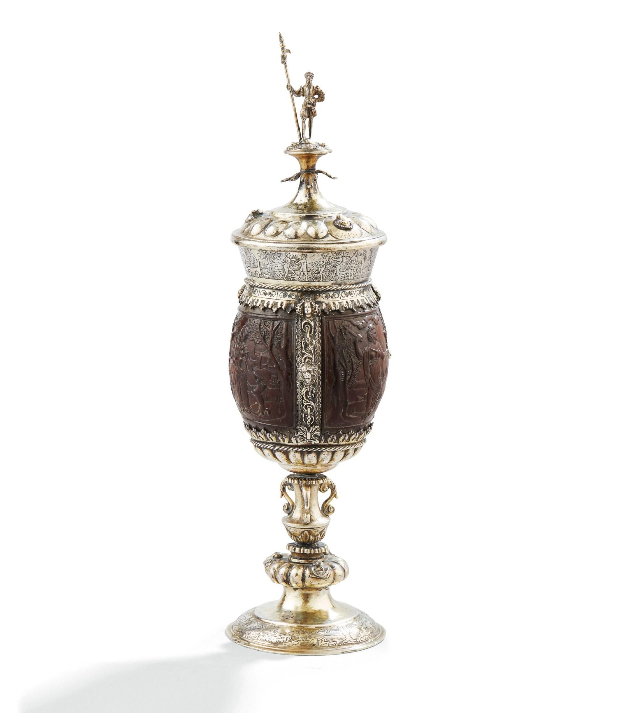 View 1 of Lot 100. COCONUT-CUP WITH SILVER-GILT MOUNTS, PROBABLY GERMANY CIRCA 1860 | NOIX DE COCO MOTÉE EN VERMEIL, PROBABLEMENT ALLEMAGNE VERS 1860  .