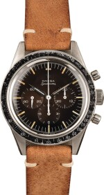 """OMEGA   Speedmaster, Ref. 2998-1, A Stainless Steel Chronograph Wristwatch with """"Tropical"""" Dial, Circa 1960"""