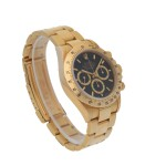 ROLEX | 'ZENITH' DAYTONA, REF 16528 YELLOW GOLD CHRONOGRAPH WRISTWATCH WITH BRACELET AND 'INVERTED 6' DIAL CIRCA 1991