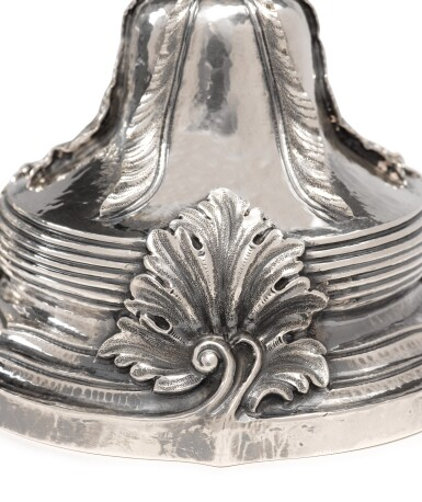 View 3. Thumbnail of Lot 245. A PAIR OF ITALIAN SILVER CANDLESTICKS, BUCCELLATI, 20TH CENTURY.