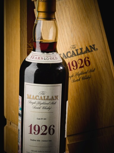 View 6. Thumbnail of Lot 160. THE MACALLAN FINE & RARE 60 YEAR OLD 42.6 ABV 1926 .