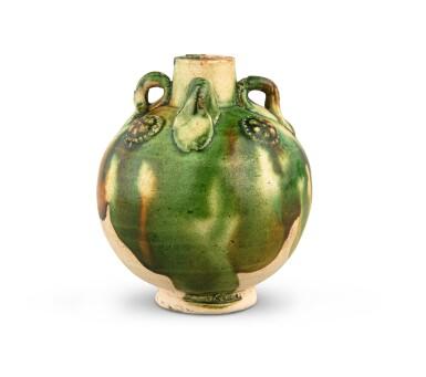 View 4. Thumbnail of Lot 174. A miniature sancai-glazed pottery jar, Tang dynasty   唐 三彩貼花四繫小罐.