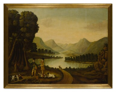 AMERICAN SCHOOL, 19TH CENTURY |  UNTITLED (PHEASANT HUNTERS IN LANDSCAPE)
