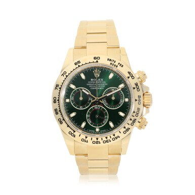 View 1. Thumbnail of Lot 15. ROLEX | REFERENCE 116508 DAYTONA   A YELLOW GOLD AUTOMATIC CHRONOGRAPH WRISTWATCH WITH BRACELET, CIRCA 2019.