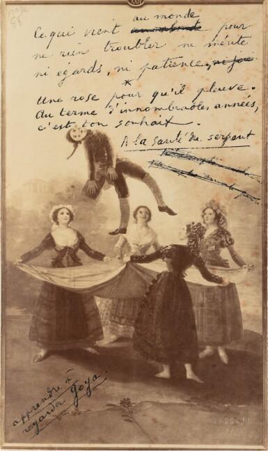 View 4. Thumbnail of Lot 132.  Le Poème pulvérisé, 1947. Ex. avec la lithographie signée. Envoi de Char à Éluard (rel. de P.L. Martin).