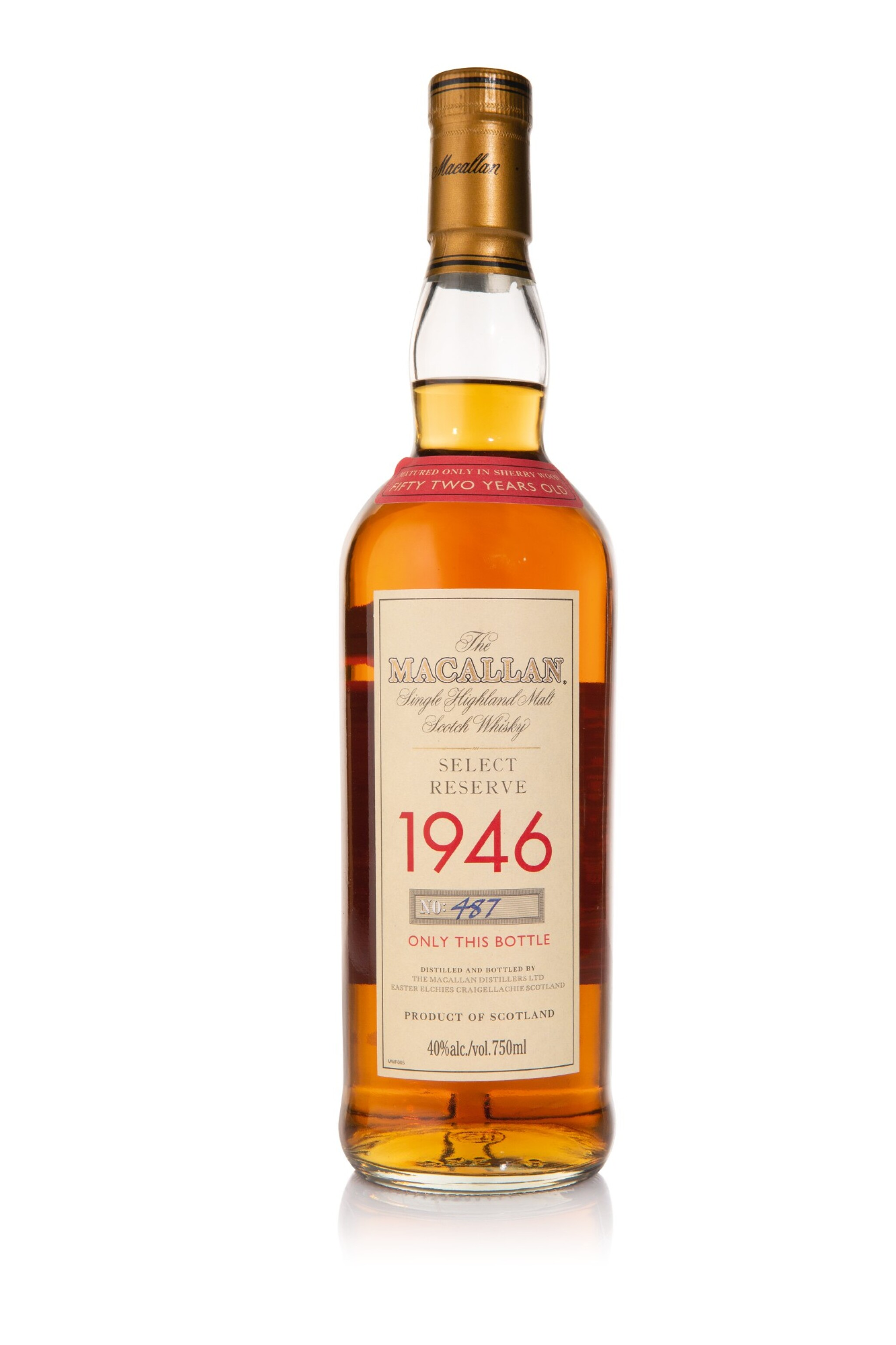 View full screen - View 1 of Lot 1. The Macallan Select Reserve 52 Year Old 40.0 abv 1946 (1 BT75cl).