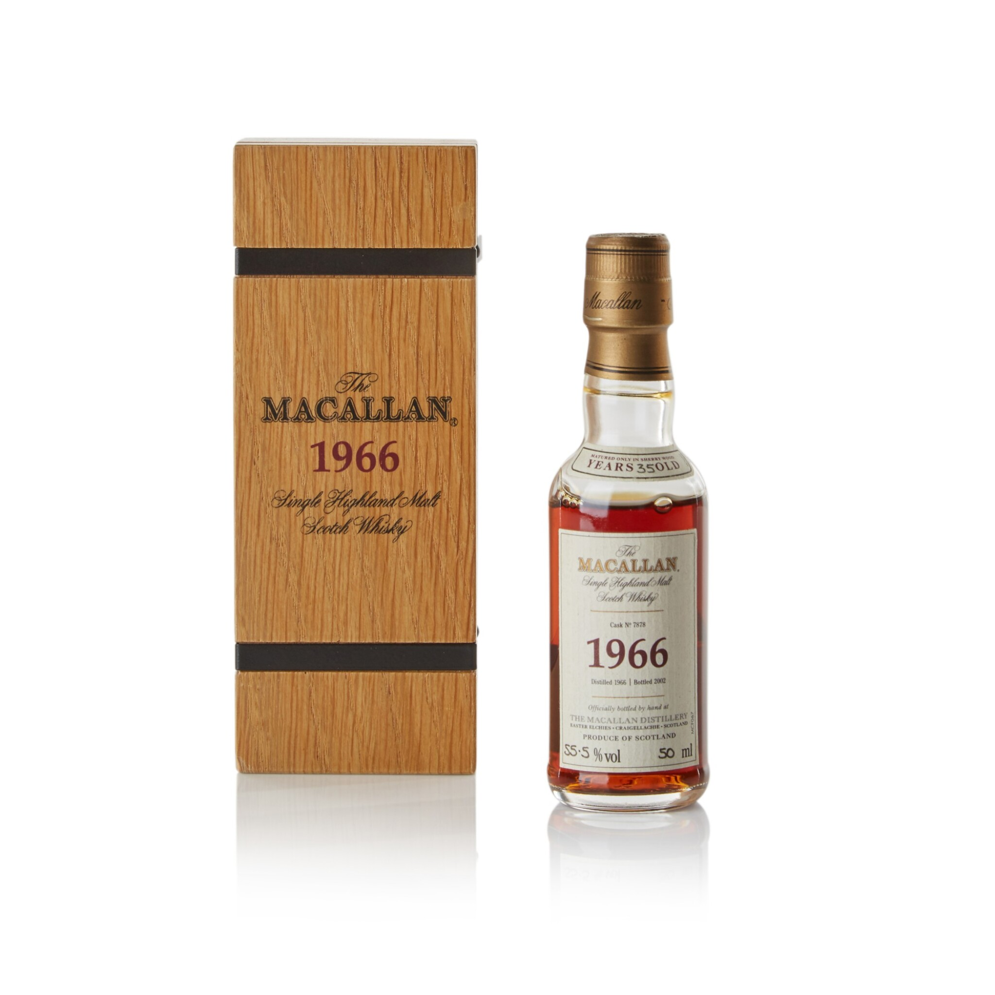View full screen - View 1 of Lot 25. The Macallan Fine & Rare 35 Year Old 55.5 abv 1966 .