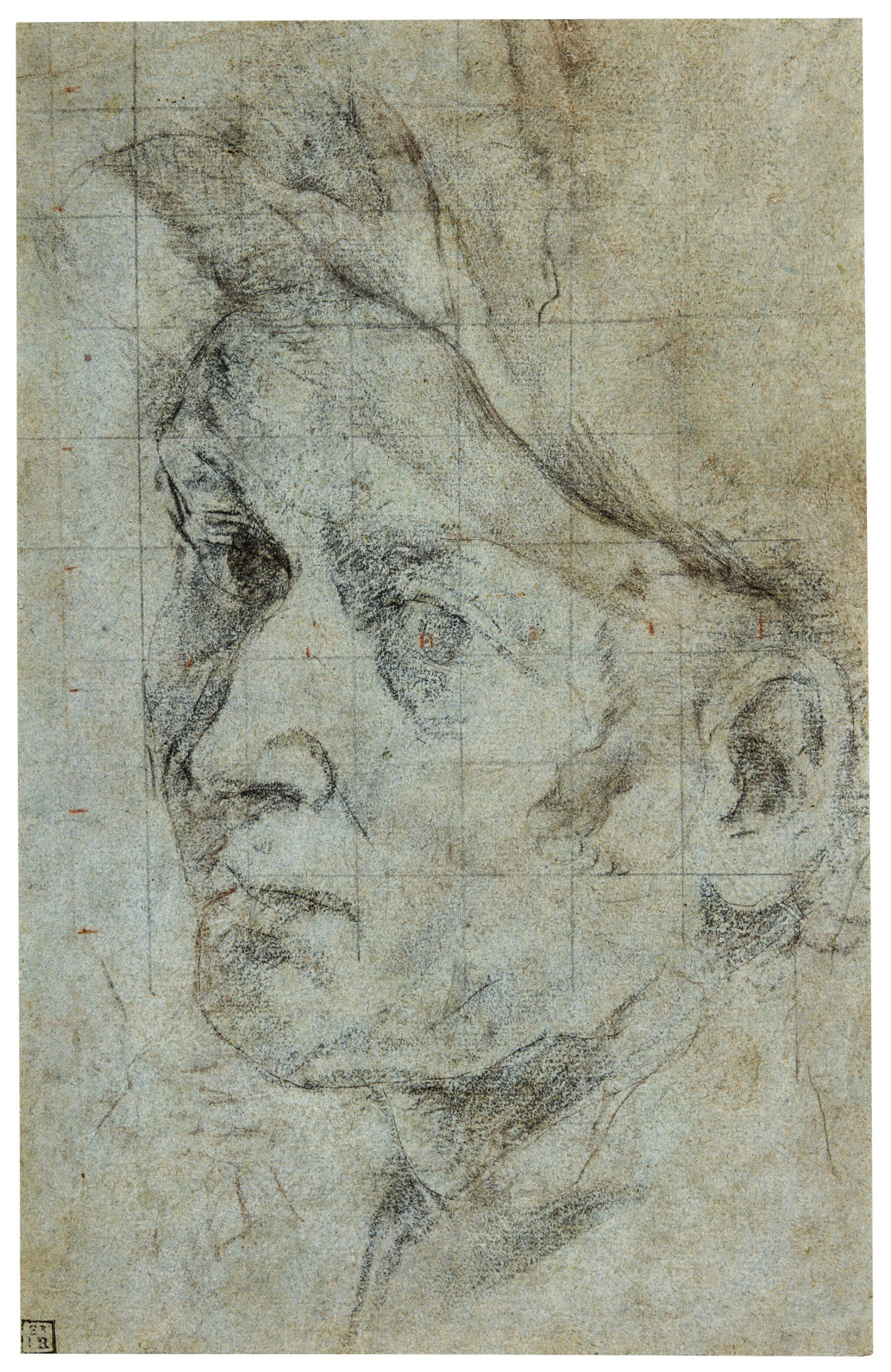 View full screen - View 1 of Lot 40. GIOVANNI LANFRANCO | THE HEAD OF A MAN.