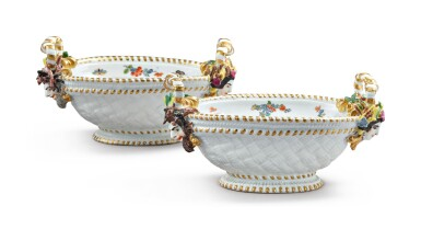 View 2. Thumbnail of Lot 297. A PAIR OF MEISSEN OVAL SMALL BASKETS, CIRCA 1735.