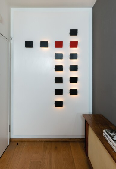 View 4. Thumbnail of Lot 3. Set of fourteen CP1 wall lights, designed in 1962        .