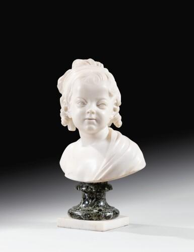 View 2. Thumbnail of Lot 63. Portrait of Constance-Félicité-Victoire-Désirée Vassé, daughter of the artist.